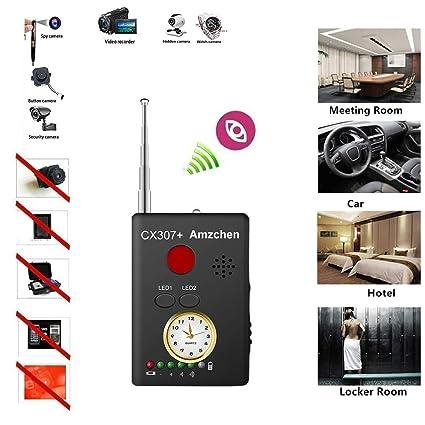 RF Bug Detector, Onechen RF Signal Detector Wireless Anti-spy Hidden Camera  Lens Detector Radio Wave Signal Detect Full-Range GSM Device Finder for