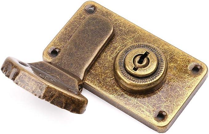Bronce Cerradura de Metal Vintage wuzhou Caja de Hebilla de Maleta de Cuero en Tono Bronce pestillo de Palanca Antigua