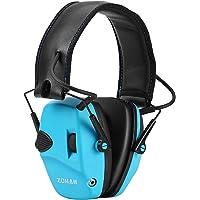 ZOHAN EM054 Electronic Ear Protection for Shooting, Ultra Slim Profile Earmuff for Shooting & Hunting - NRR22dB - Blue