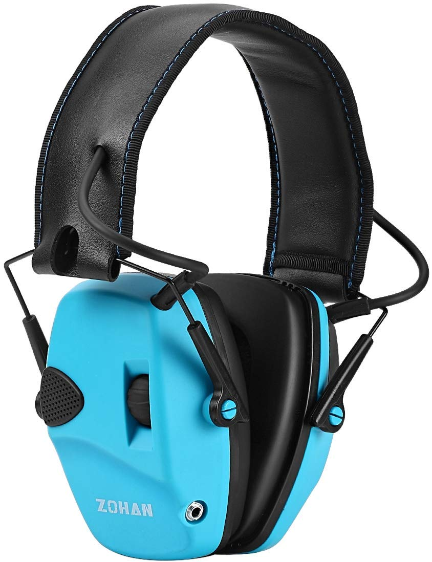ZOHAN EM054 Electronic Ear Protection for Shooting, Ultra Slim Profile Earmuff for Shooting & Hunting - NRR22dB - Blue by ZOHAN