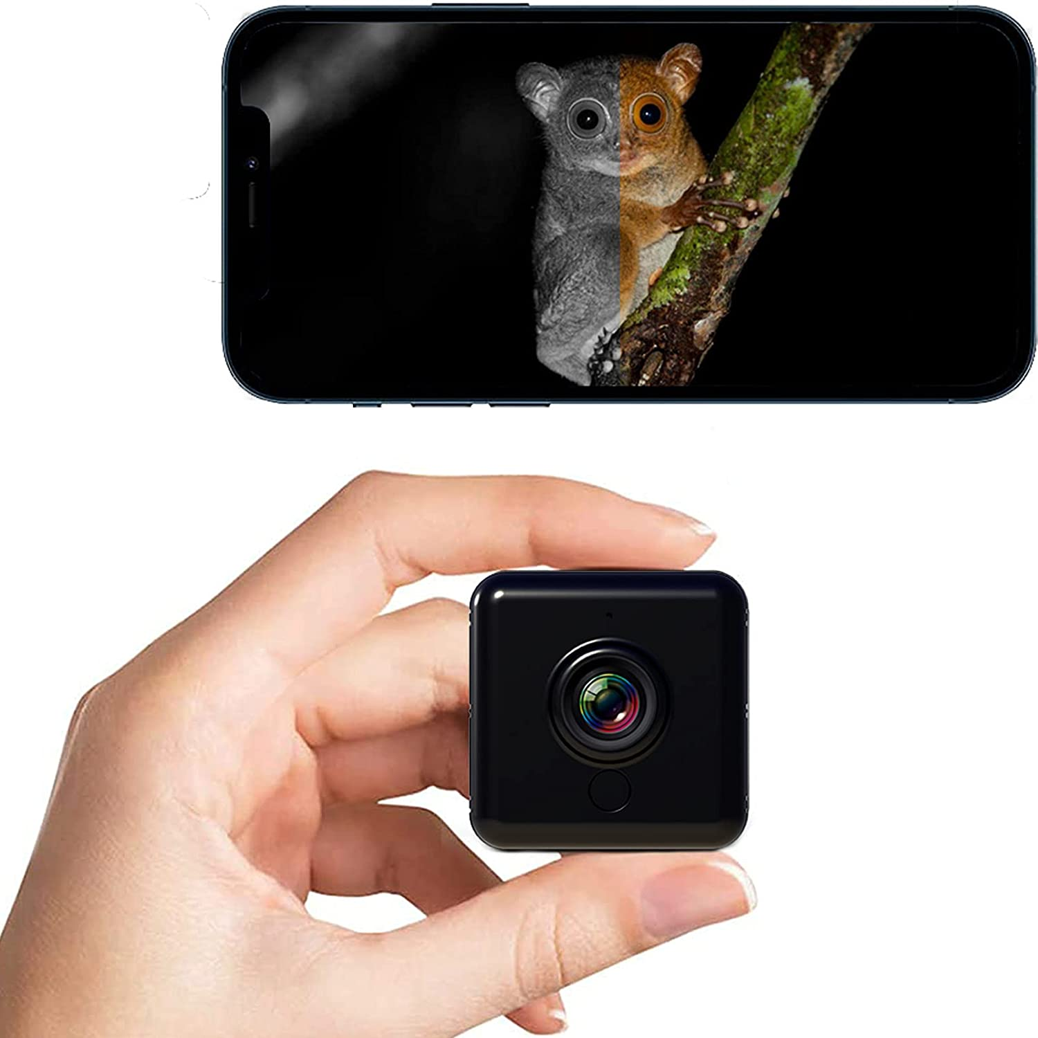 Baby Monitor With Camera and Audio -AfaiTEK IR Cut Mini Dog Cat Pet Cam w/ Phone App Nanny Cam Wireless WiFi for Home Security Surveillance, Smartphone Compatible Bebe Camaras, Portable Small Dash Cam