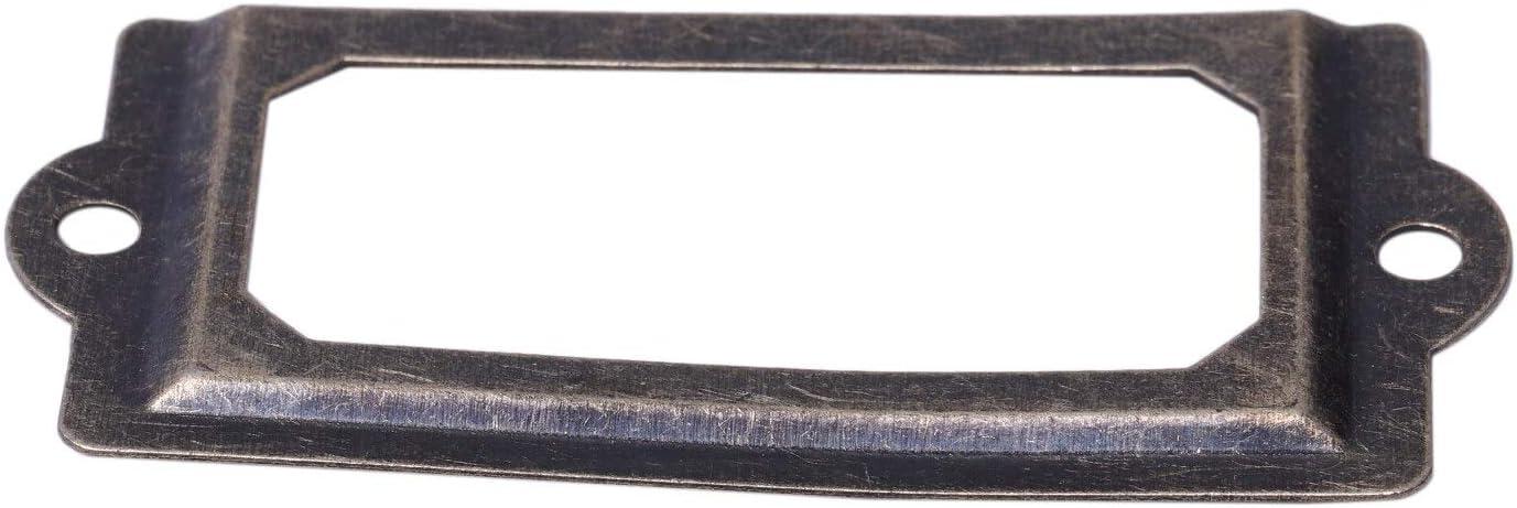 30 Pcs Name Label Frame Door Handle Frame Metal Bronze Retro Vintage Acienne Decoration Door Cabinet Drawer Screw Color: Bronze