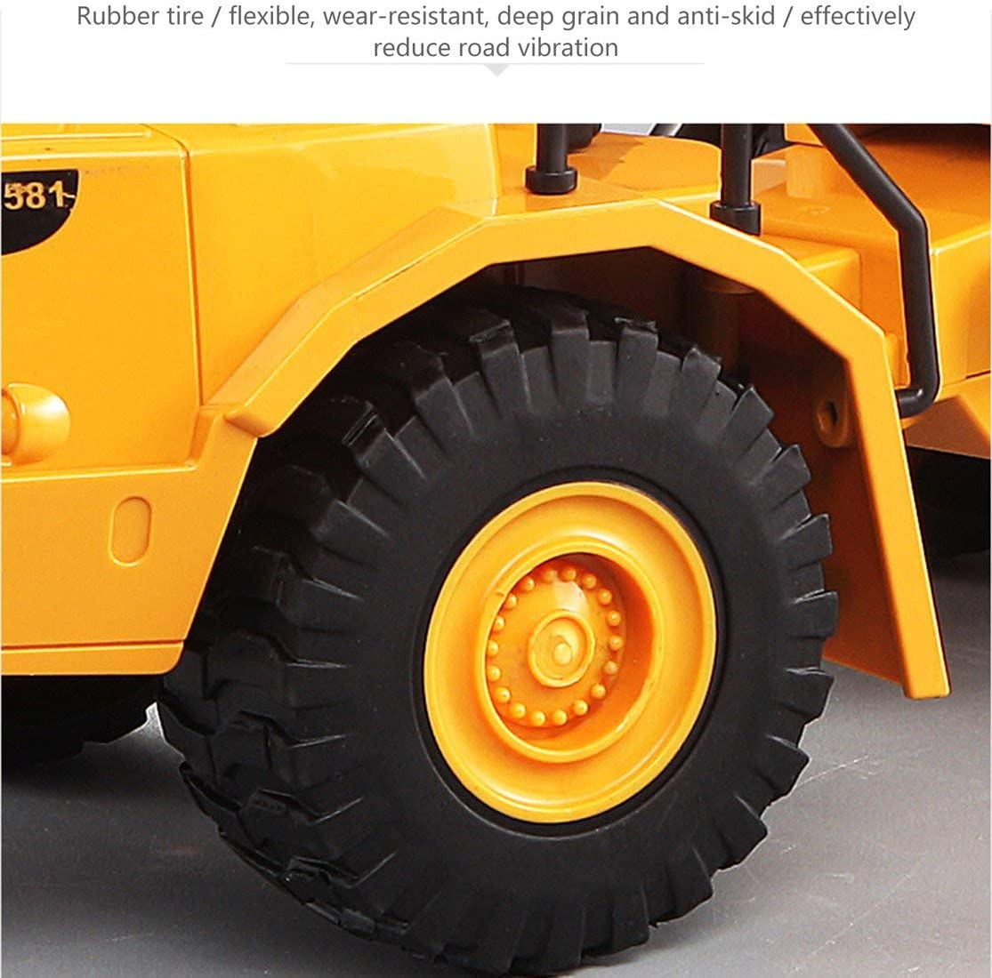 Kaemma RC Kipper-Modell 2,4 GHz Fernbedienung Dumper Spielzeug RC Engineering Autos Fahrzeuge neigbare Wagen E581-003