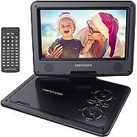 Portable 270 degree Swivel DVD Player LCD Screen Display Game USB TV SD SWIVEL & Flip VAG CD VCD MP3 MP4 USB Home Theater (9.5 inch (NS969B))