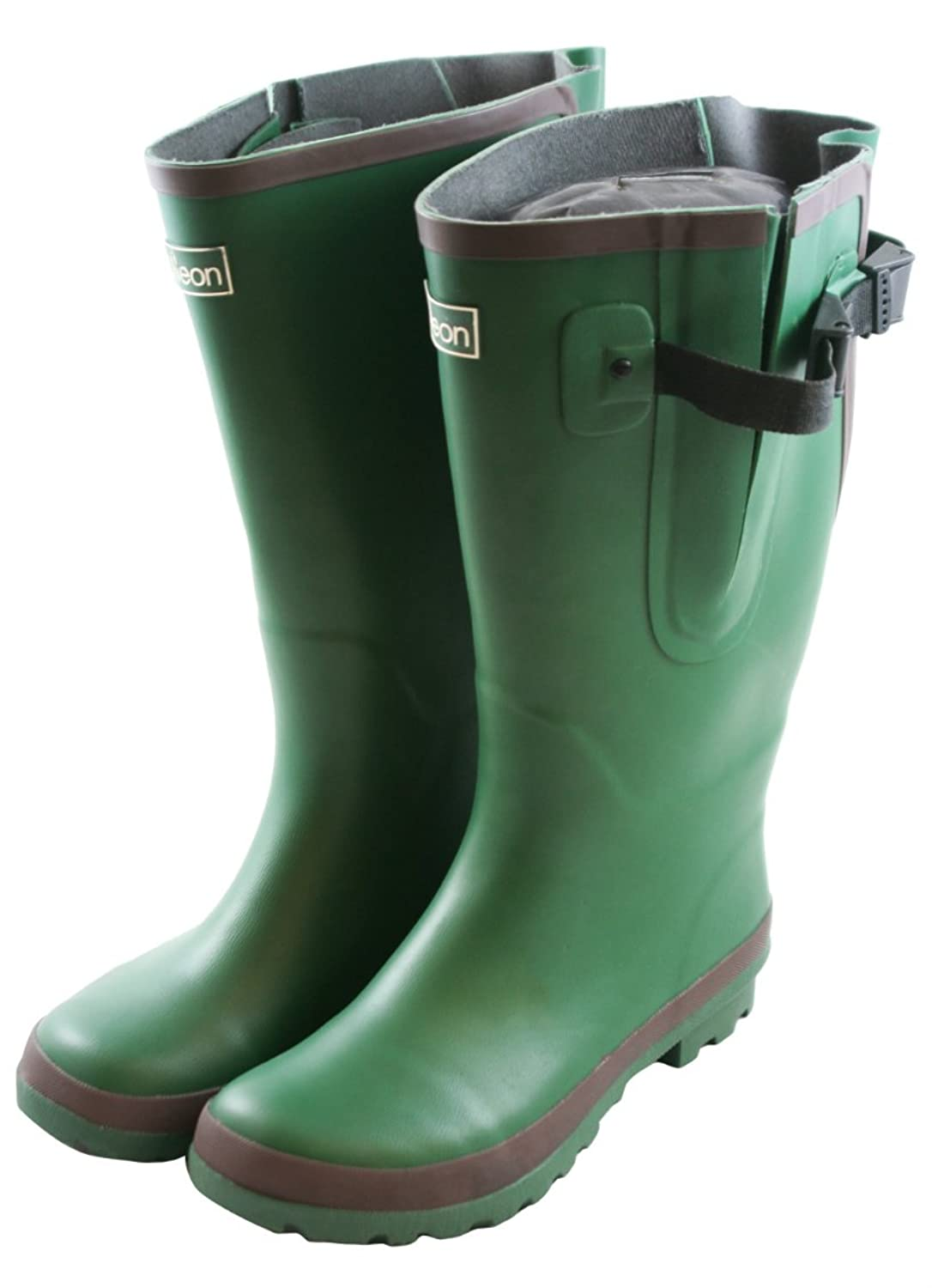 Extra Wide Fit Green Wellies With Rear Gusset Fit up To 50cm Calf 5:  Amazon: Shoes & Bags