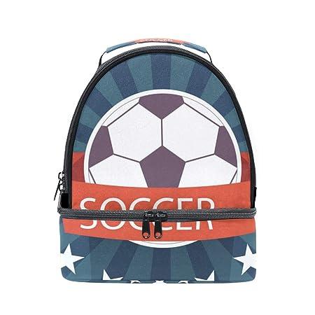 Alinlo - Bolsa térmica con diseño de balón de fútbol, con correa ...