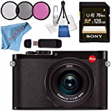 Leica Q (Typ 116) Digital Camera (Black) #19000 + Sony 128GB SDXC Card + 49mm 3 Piece Filter Kit + Card Reader + Deluxe Cleaning Kit + Fibercloth Bundle