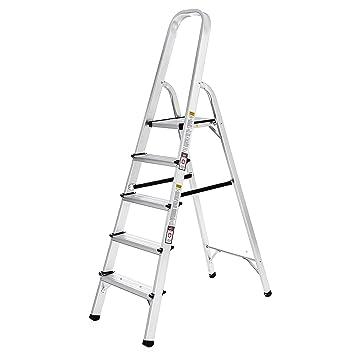 Schön Songmics Alu Klapptritt Trittleiter Leiter 3 m 5 Stufen GLT159  SB06