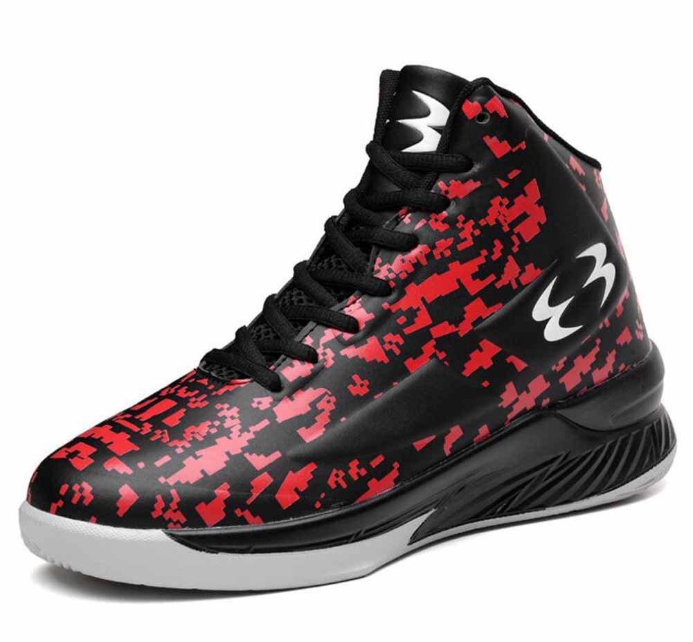 Hombres Respirable Baloncesto Zapatillas Otoño Invierno Antideslizante Atlético Zapatos Al aire libre Camuflaje Corriendo Zapatos ( Color : Red , Size : 39 ) 39|Red