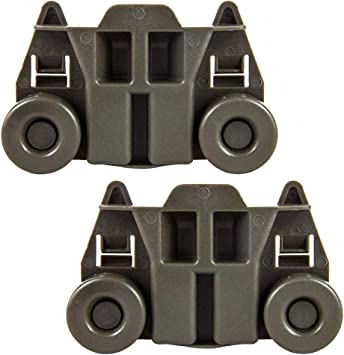 W10195417 Dishwasher Wheels Lower Rack compatible kenmore whirlpool kitchen aid,4PCS Dishwasher Premium Wheels Replaces Dish Rack Part Number AP4538395 AH2579553 EA2579553 PS2579553,WPW10195417