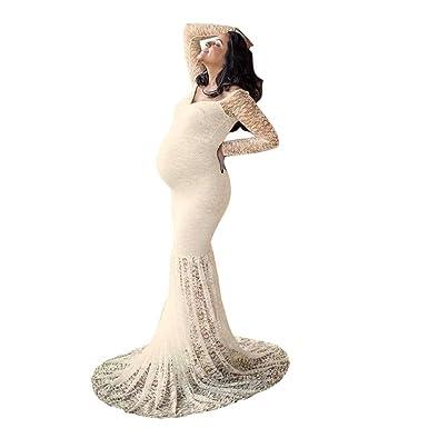 Mujeres embarazadas con vestidos largos