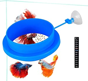 Fish Feeding Ring, Floating Food Feeder, Thicken Round Desgin, for Flakes, Floating Fish Foods, Reduces Waste and Maintains Water Quality, for Guppy, Betta, Goldfish Etc