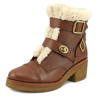 Womens Preston Leather Round Toe Ankle Cold Weather Boots