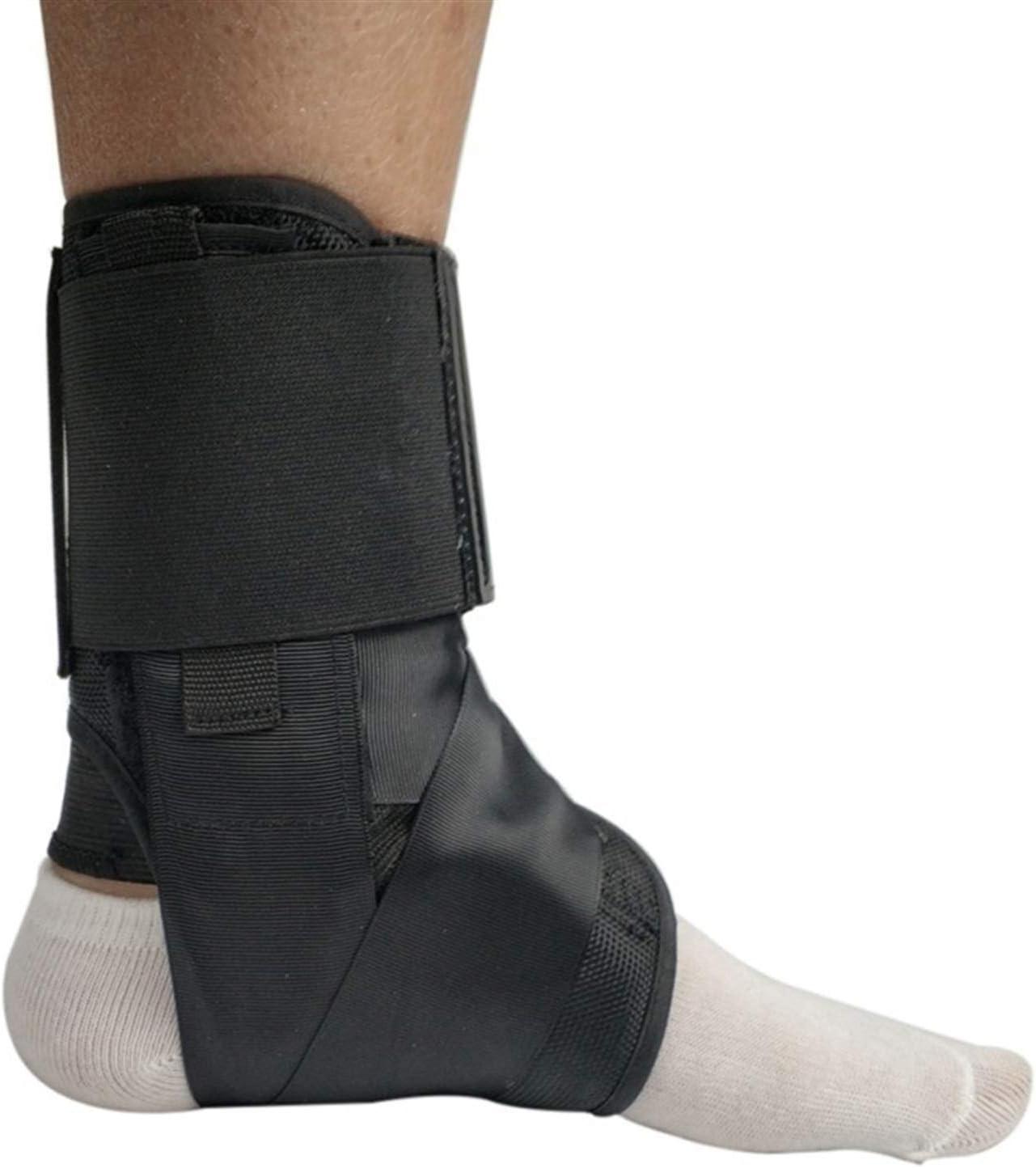 Tobilleras Vendaje de Las Correas de Seguridad de los Deportes Ajustable Tobillo Protectores Soporta Protector del pie Ortesis estabilizadora (Color : Negro, Size : L)
