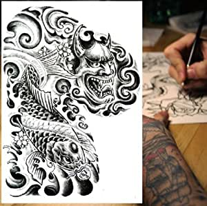 Amazon.com : GC Man' Left Arm Dragon Design Tattoo Temporary Stickers