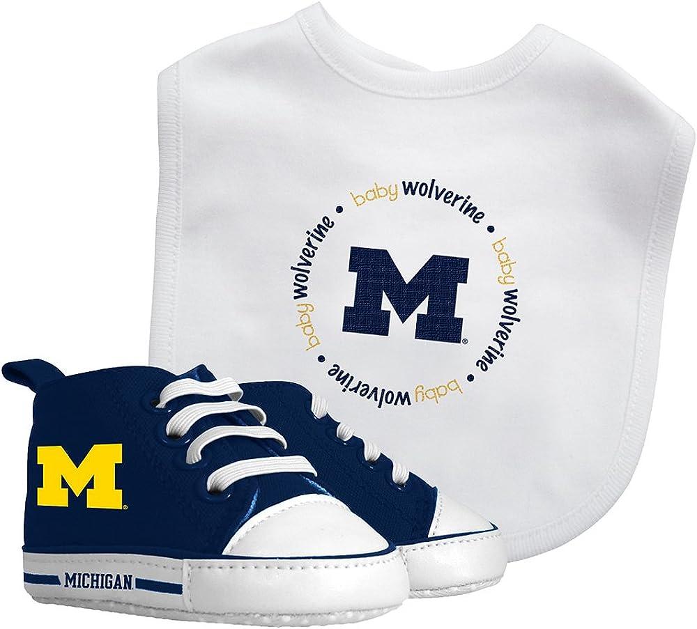 Baby Fanatic Bib /& Prewalker Gift Set Michigan University of