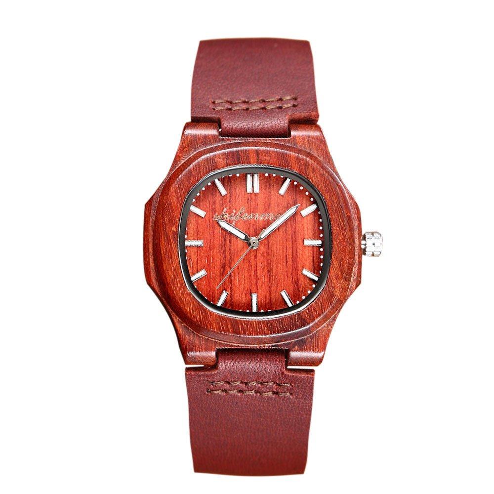 Women Watches for Sale,2019 Summer Deals! Unisex Quartz Movement Leather Watch Band Quartz Lovers Watch(Red)