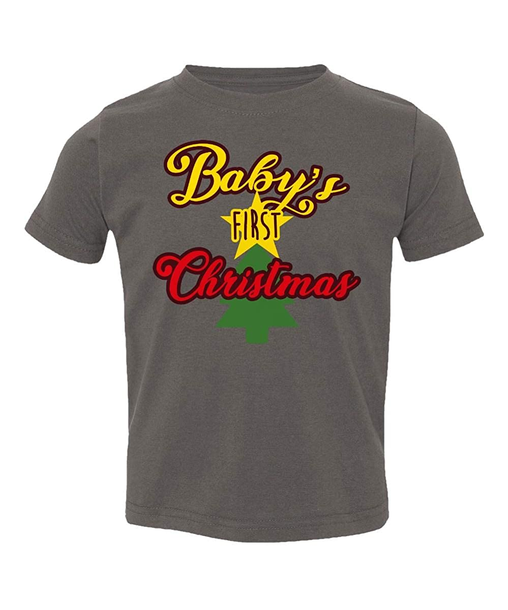 Societee Babys First Christmas Funny Adorable Little Kids Girls Boys Toddler T-Shirt