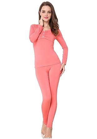 Godsen Women's Lightweight Thermal Underwear Pajamas Set at Amazon ...