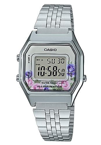 Casio Reloj Digital para Mujer de Cuarzo con Correa en Acero Inoxidable LA680WEA-4CEF: Amazon.es: Relojes