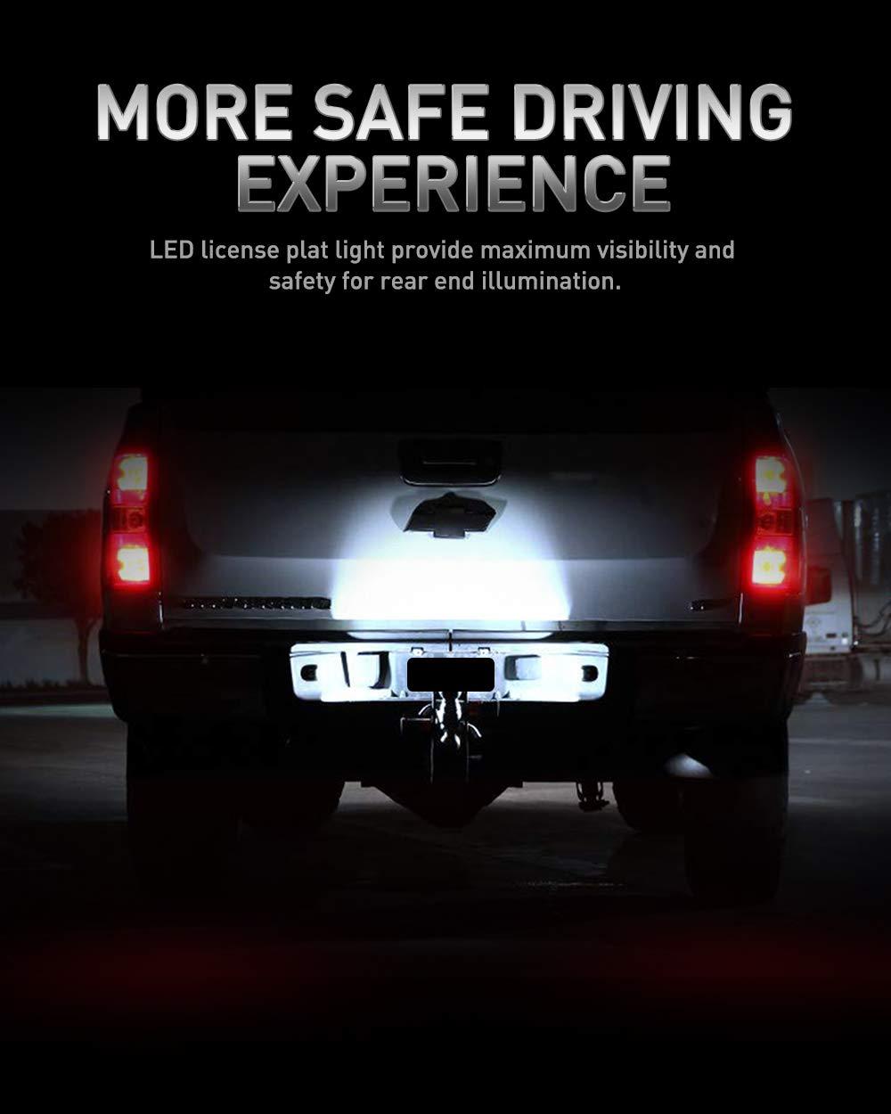 License Plate Light for F150,LED License Plate Lights Lamp Assembly For Ford F-150 F-250 F-350 F-450 F-550 Superduty Ranger Pickup Truck Explorer Bronco Excursion Expedition,6000K White LED Lights