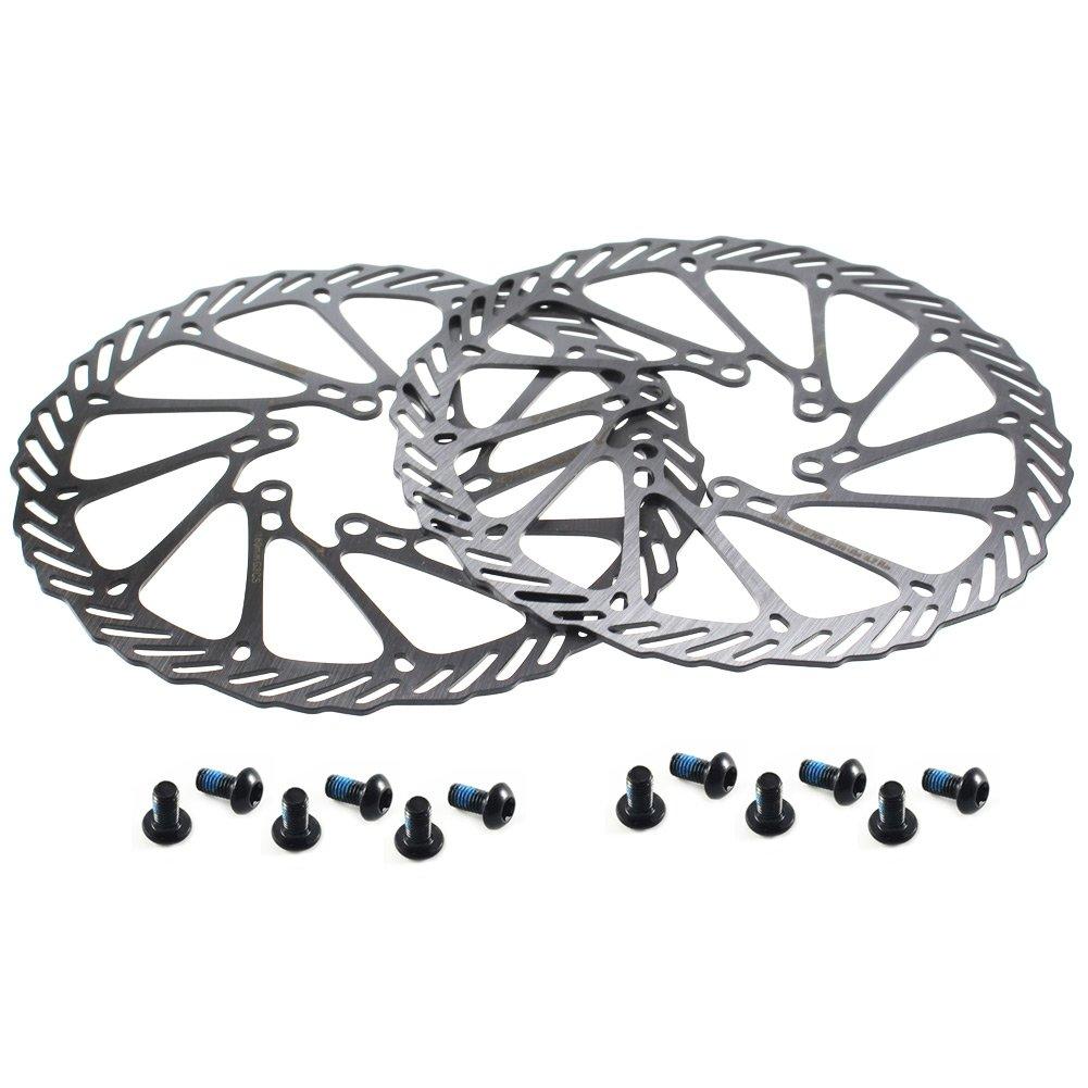 CYSKY Lot de 2 disques de Frein à Disque 160 mm en Acier Inoxydable pour la Plupart des vélos de Route, VTT, BMX, VTT (12 vis incluses)