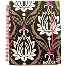 "Carolina Pad Studio C College Ruled Poly Cover 3-Subject Ideal Book with Elastic Closure ~ Fashionista (White Flower Buds; 6.5"" x 8.75""; 120 Sheets, 240 Pages)"