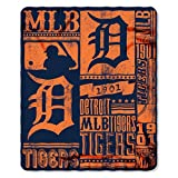 MLB Detroit Tigers Strength Printed Fleece Throw, 50-inch by 60-inch