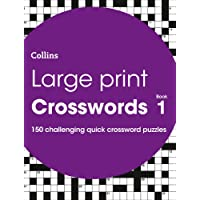 Large Print Crosswords Book 1: 150 Puzzles