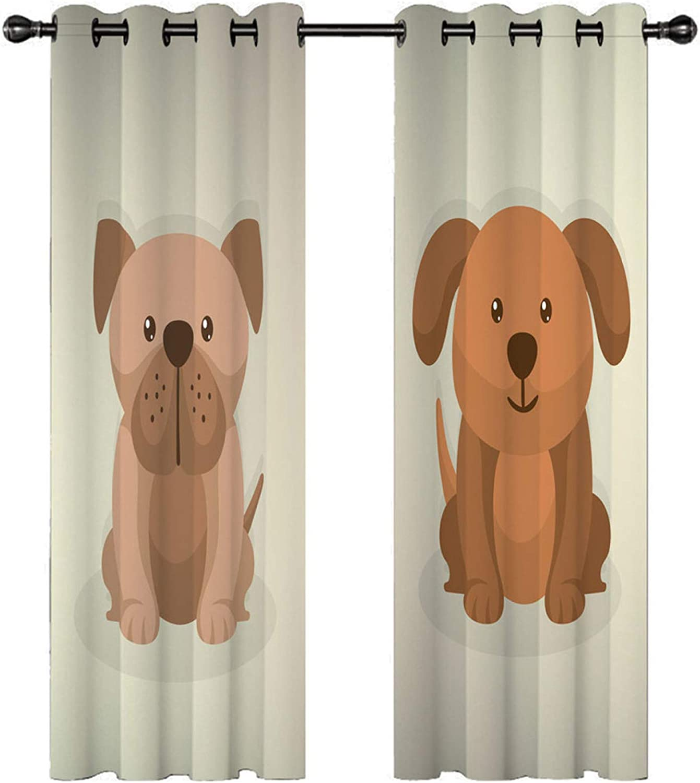 YUNSW Cortinas Perforadas De Impresión Digital 3D De Animales ...