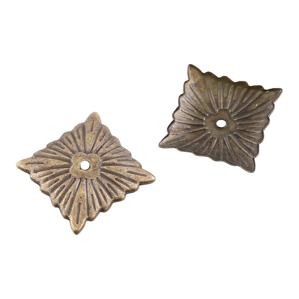 100 st/ück Vintage Polster N/ägel Runder Gro/ßk/öpfiger Bronze Metall Tags M/öbel Sofa Schuh T/ür Tack Stud G/änsebl/ümchen 11 * 16mm