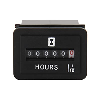 Jayron JR-HM001 Snap in Mechanica Hour Meter Rectangular Hour Meter for DC 6-50V Powered equipmet Such as Fork Lifts,Golf carts,Floor Care Equipment,and Any Other Battery Powered Equipment: Automotive