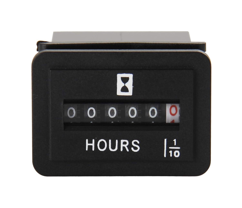 Jayron Snap in Mechanica Hour Meter Rectangular Hour Meter NR-HM001 DC6-80V 12V 24V
