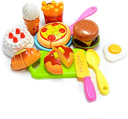 Kitchen Food Kids Cooking Pre-school Toys Cook Play Set for Boys Girls Gifts UK