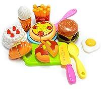Kunen 228C Set Giocattoli Cucina, Plastica, 13 Pezzi,  Multicolore