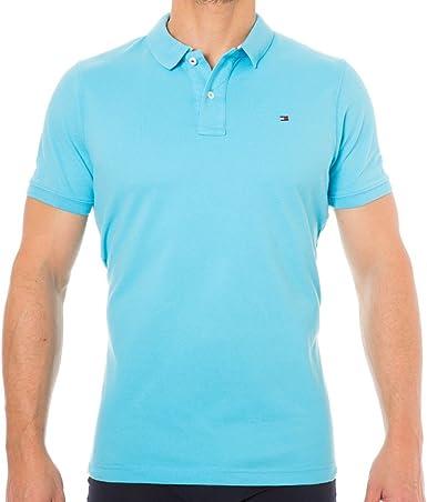 Tommy Hilfiger Pilot Bandera de Polo Camisa Azul Celeste XL ...