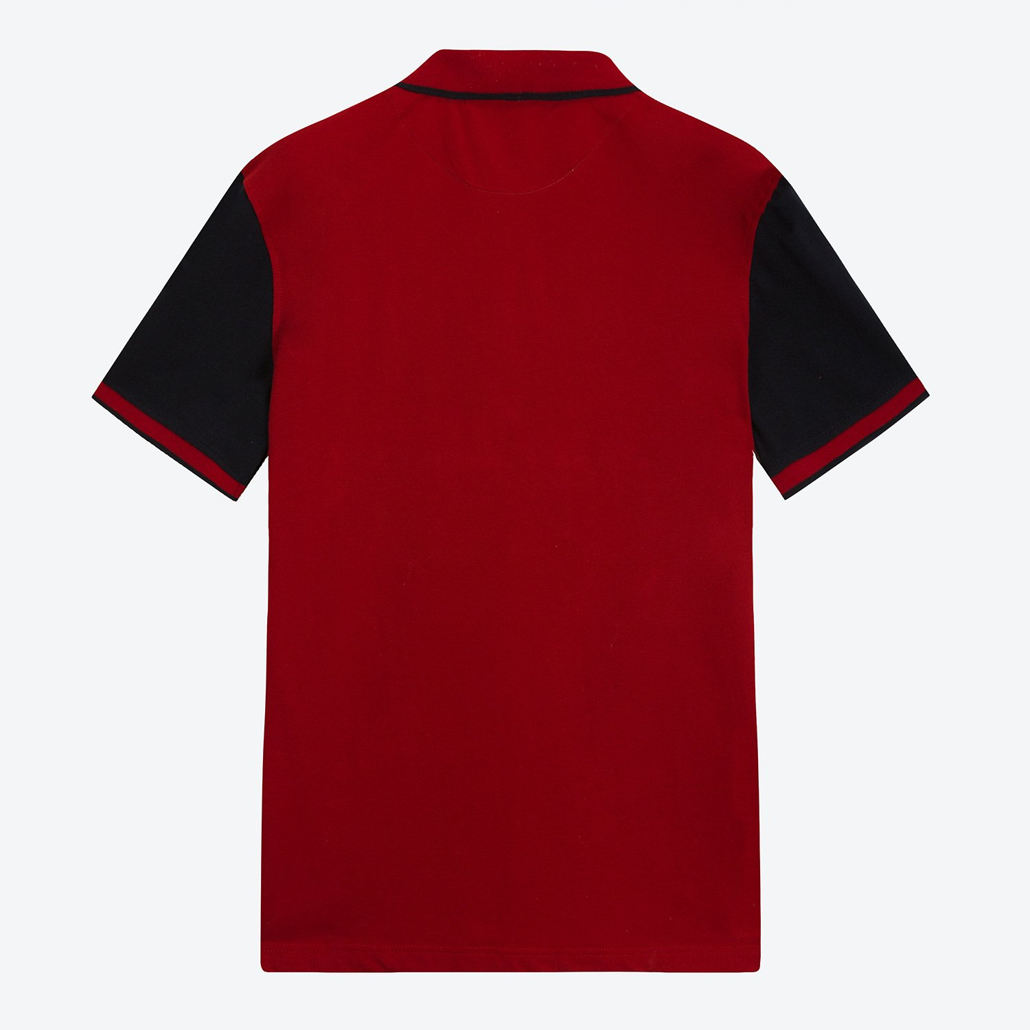 FREDD MARSHALL Mens Casual Regular-Fit Color Block Cotton Polo Shirt with Embroidery