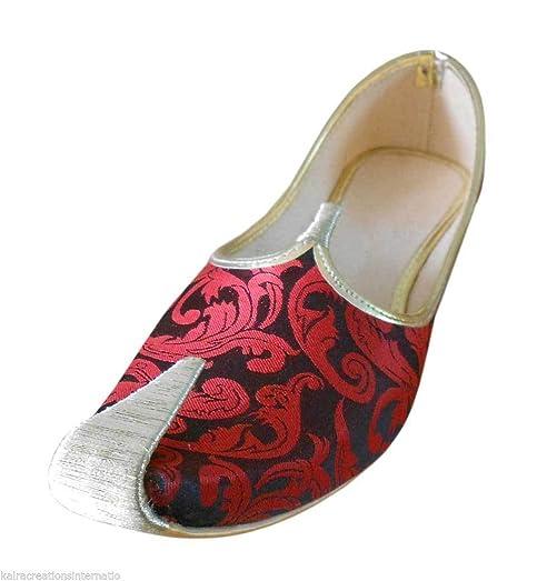Mojari Indian Handmade Punjabi Men Shoes Flip-Flops Groom Khussa Flat