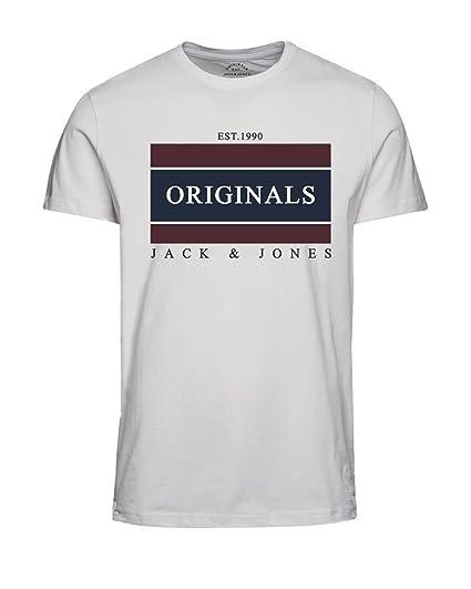 JACK & JONES - Camiseta - Manga Corta - para Hombre Blanco Blanco Small