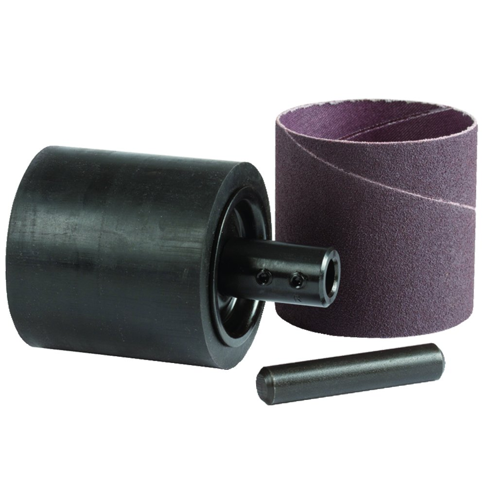 Climax Metals SD048048-08MDP Shank Motor Shaft Convertible Rubber Expansion Sanding Drum with P4 Shaft and 80 Amp Sleeve, 3' x 3' 1/2' 3 x 3 1/2 Climax Metal Products Company