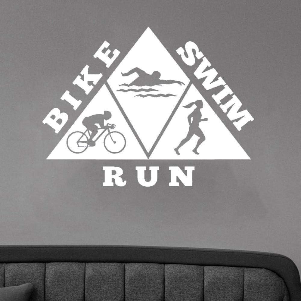BFMBCH Vida sana bicicleta natación correr pegatinas de pared ...