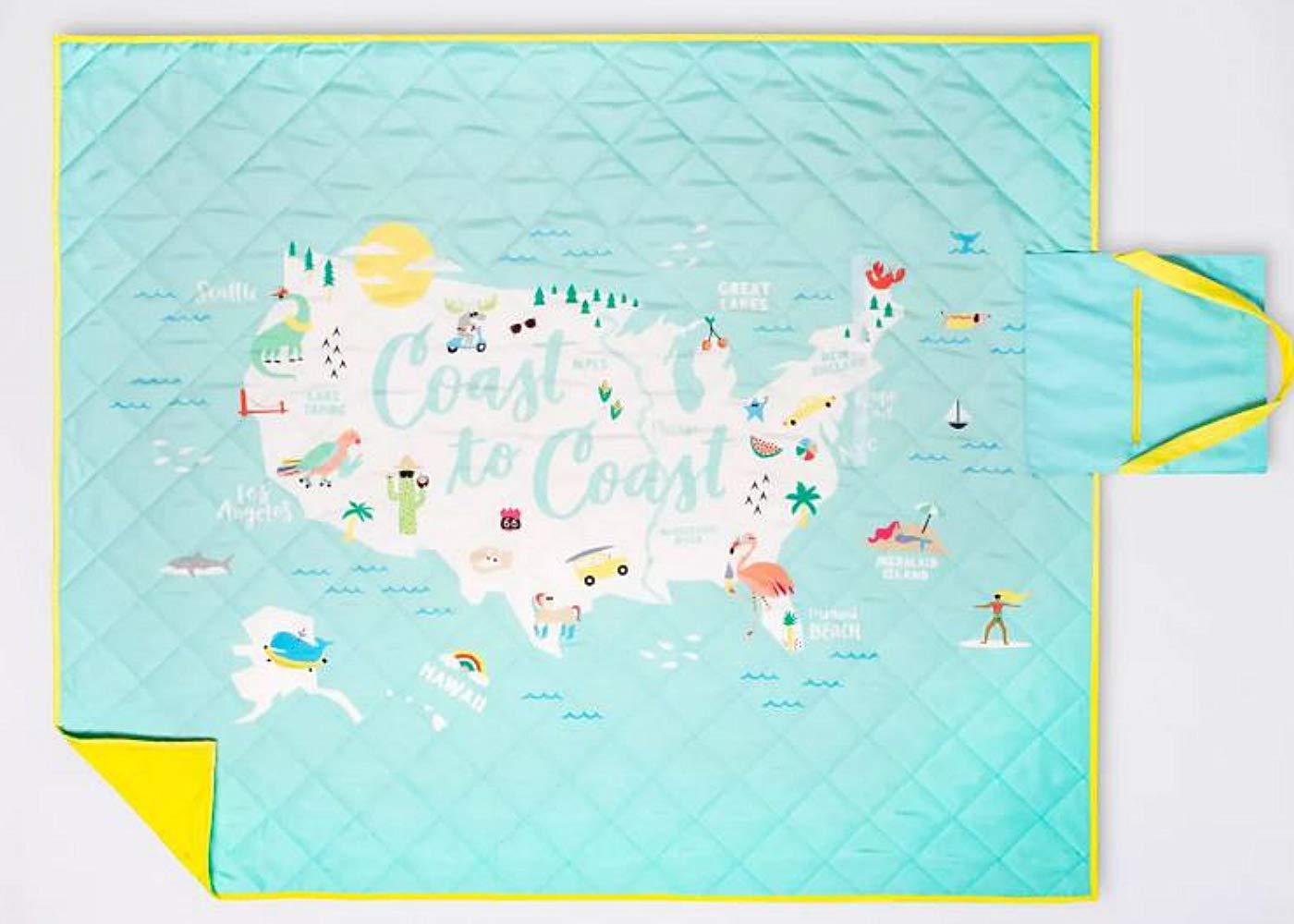 Sun Squad Coast to Coast Picnic Blanket, 60''x72'' by Sun Squad