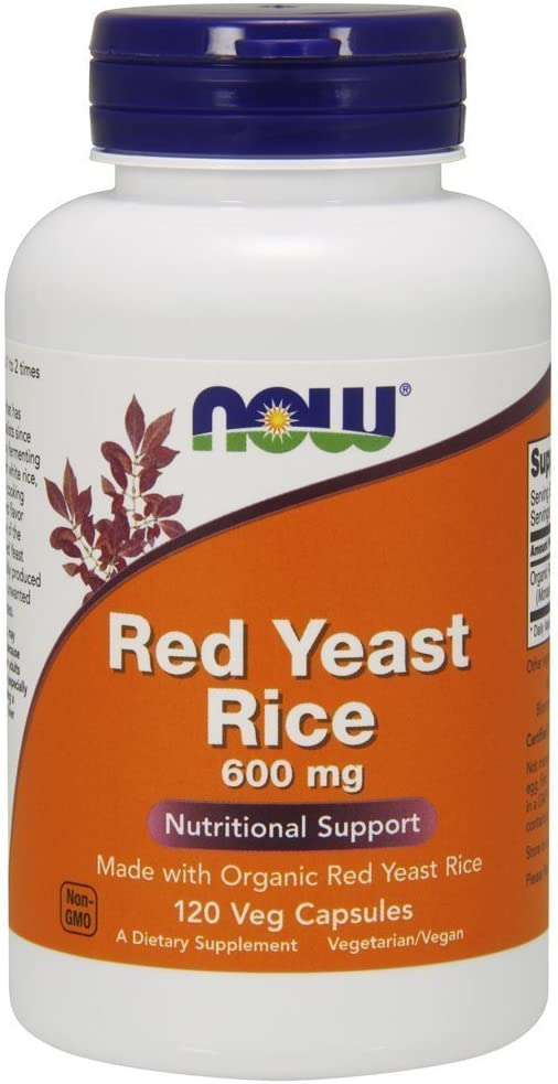 Now Foods Red Yeast Rice 600 Milligrams, 120 Veggie Caps