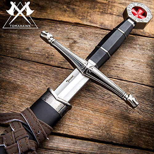 - Tomahawk Black Prince Medieval Sword with Sheath - Historical Reproduction, Cast Metal Handle - 22 1/2