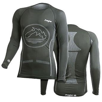 J Hayber Pro Camiseta Térmica [Climatherm®] - Hombre - Esquí, Snowboarding, Moto, Ciclismo, Futbol - Color: Negro (L): Amazon.es: Industria, empresas y ciencia