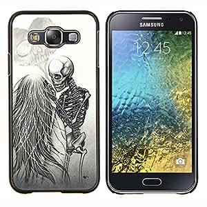 """For Samsung Galaxy E5 E500 Case , Amor Death Metal Esqueleto Cráneo blanco"""" - Diseño Patrón Teléfono Caso Cubierta Case Bumper Duro Protección Case Cover Funda"""