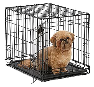 amazon com dog crate midwest icrate 24 folding metal dog crate