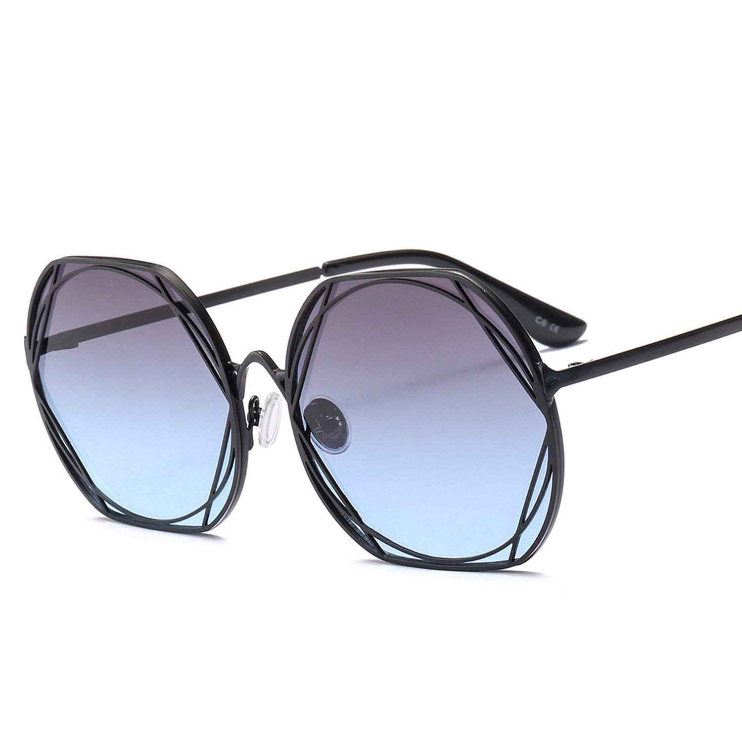 Amazon.com: Metal Frame Vintage Round Sunglasses Women Men ...