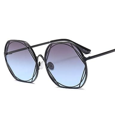 Amazon.com: Metal Frame Vintage Round Sunglasses Women Men ...