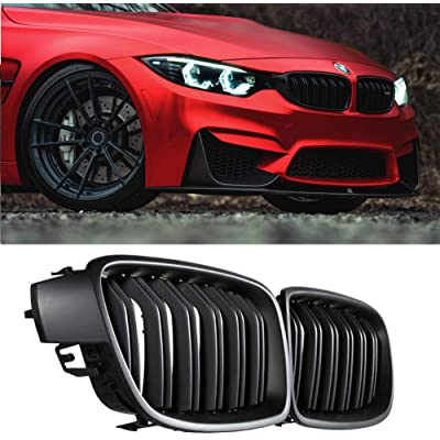 Fit 2012-2020 BMW 3 Series F30 F31 F35 Grille Matte BLACK Cool Bussiness Style Replacement Conversion Grill Sturdy ABS Easy To Install: Automotive